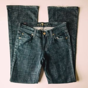 7 For All Mankind Flare Dark Blue 70s Jean